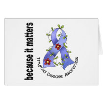 Thyroid Disease Flower Ribbon 3 Card