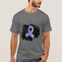 Thyroid Disease Light Blue Ribbon With Scribble T-Shirt