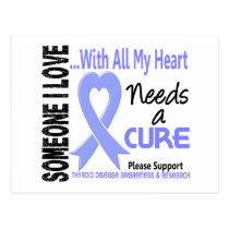 Thyroid Disease Needs A Cure 3 Postcard