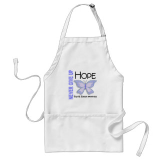 Thyroid Disease Never Give Up Hope Butterfly 4.1 Adult Apron