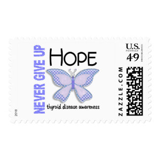 Thyroid Disease Never Give Up Hope Butterfly 4.1 Postage
