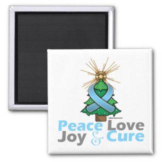 Thyroid Disease Peace Love Joy Cure 2 Inch Square Magnet