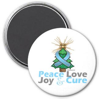 Thyroid Disease Peace Love Joy Cure 3 Inch Round Magnet