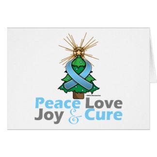 Thyroid Disease Peace Love Joy Cure Greeting Card