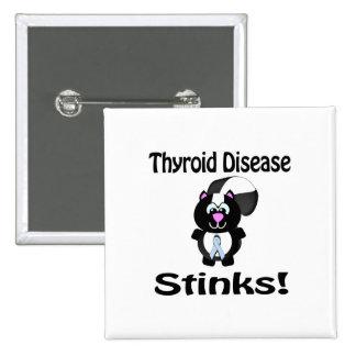 Thyroid Disease Stinks Skunk Awareness Design Pinback Button
