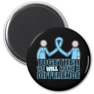 Thyroid Disease Together We Will Make A Difference 2 Inch Round Magnet