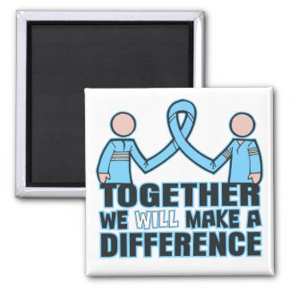 Thyroid Disease Together We Will Make A Difference 2 Inch Square Magnet