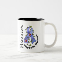Thyroid Disease Warrior 15 Two-Tone Coffee Mug