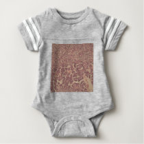 Thyroid gland cells with cancer baby bodysuit