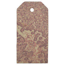 Thyroid gland cells with cancer wooden gift tags