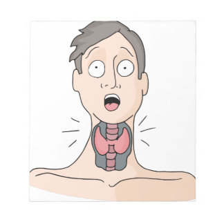 Thyroid Medical Condition Man Notepad