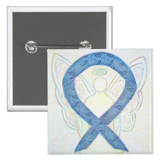 Thyroid Paisley Angel Awareness Ribbon Custom Pins