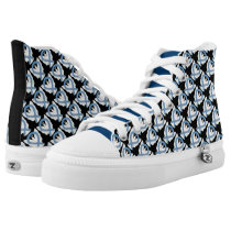 Thyroid Paisley Awareness Ribbon Angel High Tops
