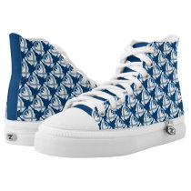 Thyroid Paisley Awareness Ribbon Angel Sneakers