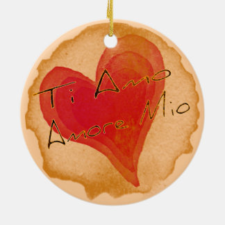 Ti Amo Amore Mio Ceramic Ornament