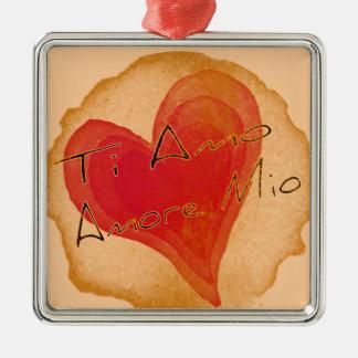 Ti Amo Amore Mio Metal Ornament