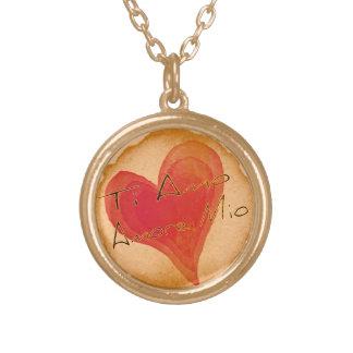 Ti Amo Amore Mio Round Pendant Necklace