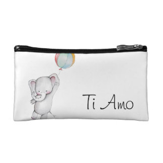 Ti Amo Baby Elephant Cosmetic Bags