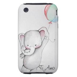 Ti Amo Baby Elephant Tough iPhone 3 Case