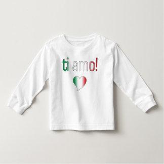 ¡Ti Amo! Colores de la bandera de Italia Playera