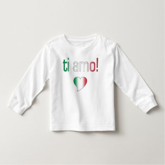 ¡Ti Amo! Colores de la bandera de Italia Polera