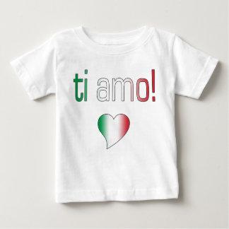 ¡Ti Amo! Colores de la bandera de Italia Remera