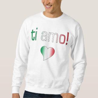 ¡Ti Amo! Colores de la bandera de Italia Suéter