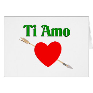 Ti Amo (I love you) Card