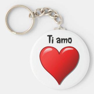 Ti amo - I love you in Italian Keychain
