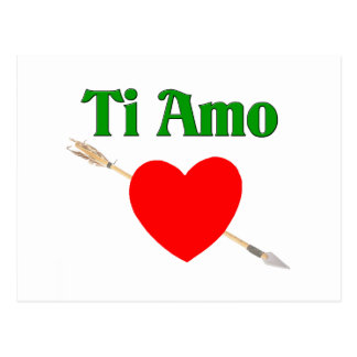 Ti Amo (I love you) Postcard