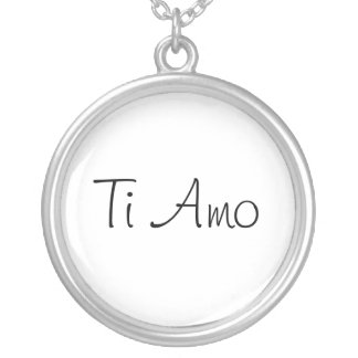 Ti Amo/I Love You Silver Plated Necklace