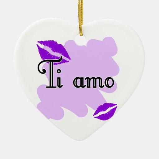 Ti amo - Italian I love you Ceramic Ornament