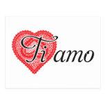 Ti amo (italiano) postales