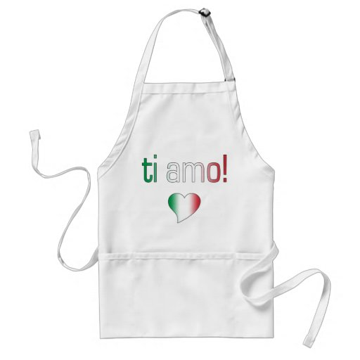 Ti Amo! Italy Flag Colors Apron