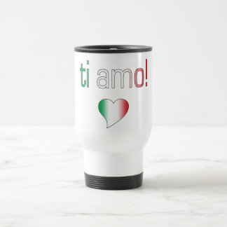 Ti Amo! Italy Flag Colors Travel Mug