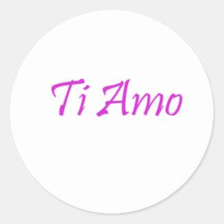 Ti Amo Etiquetas Redondas