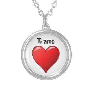 Ti amo - Te amo en italiano Colgante Redondo