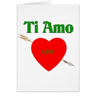 Ti Amo (te amo) Tarjeta De Felicitación