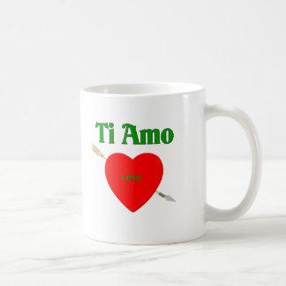 Ti Amo (te amo) Taza