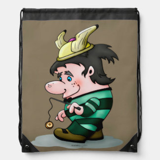 TI-BRETON ALIEN FUN CARTOON  Drawstring Backpack