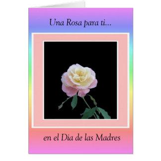 Ti de Una Rosa para…, EL Dia de las M del en… Tarjeta De Felicitación
