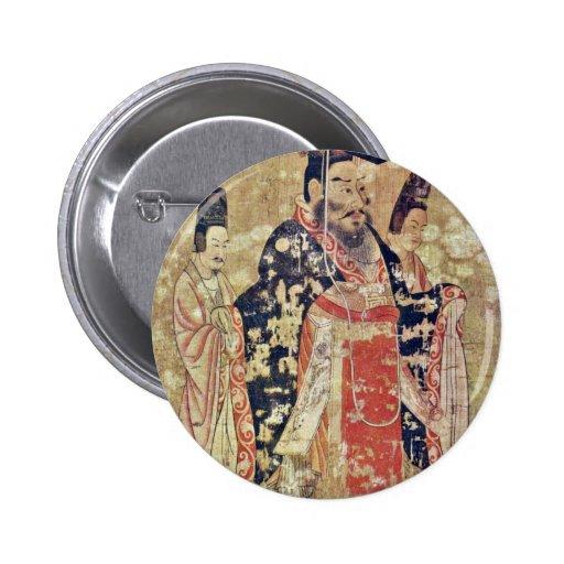 Ti de Wu del emperador de la última dinastía de Ch Pin Redondo 5 Cm
