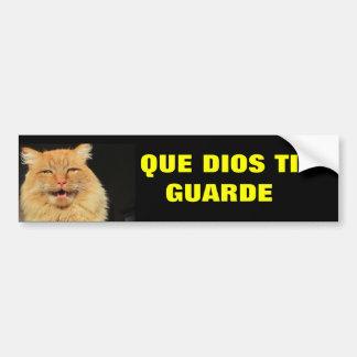 Ti Guarde de Gato - de Que Dios (puede el vigilar Pegatina Para Auto