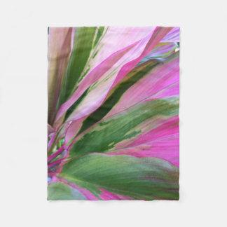 Ti Leaves Fleece Blanket