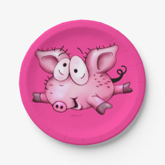Ti Pig Custom Paper Plates 7