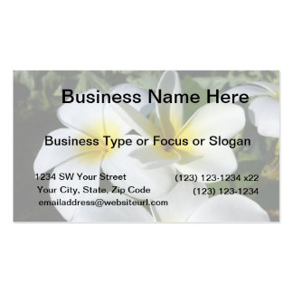 ti plant flowers yellow white business card