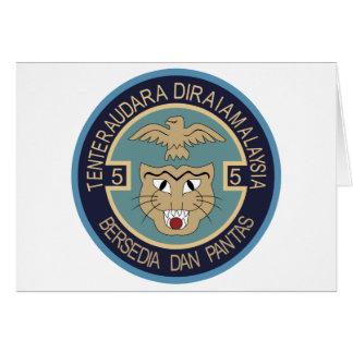 Ti real de la escuadrilla de la fuerza aérea 5 del tarjeta de felicitación
