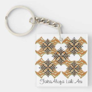 Ti Siale; Niue Design key ring Single-Sided Square Acrylic Keychain