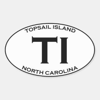 TI - Topsail Island North Carolina Oval Sticker