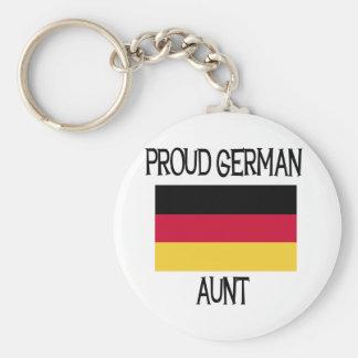 Tía alemana orgullosa llavero personalizado